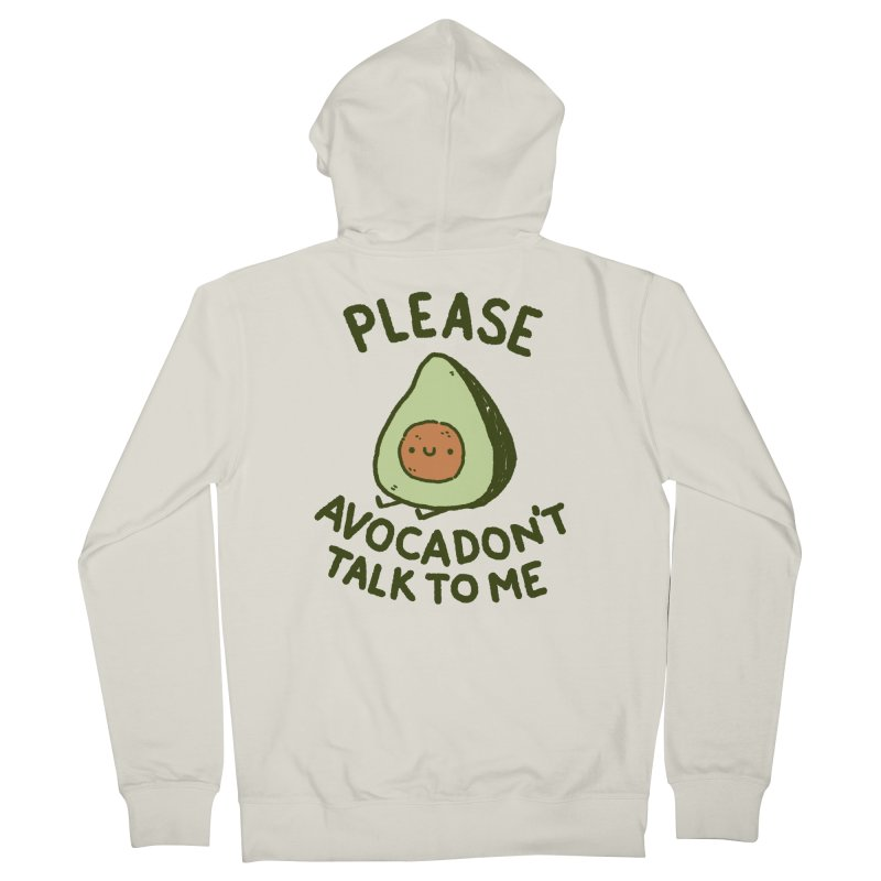 Avocadon't Men's French Terry Zip-Up Hoody by Luis Romero Shop