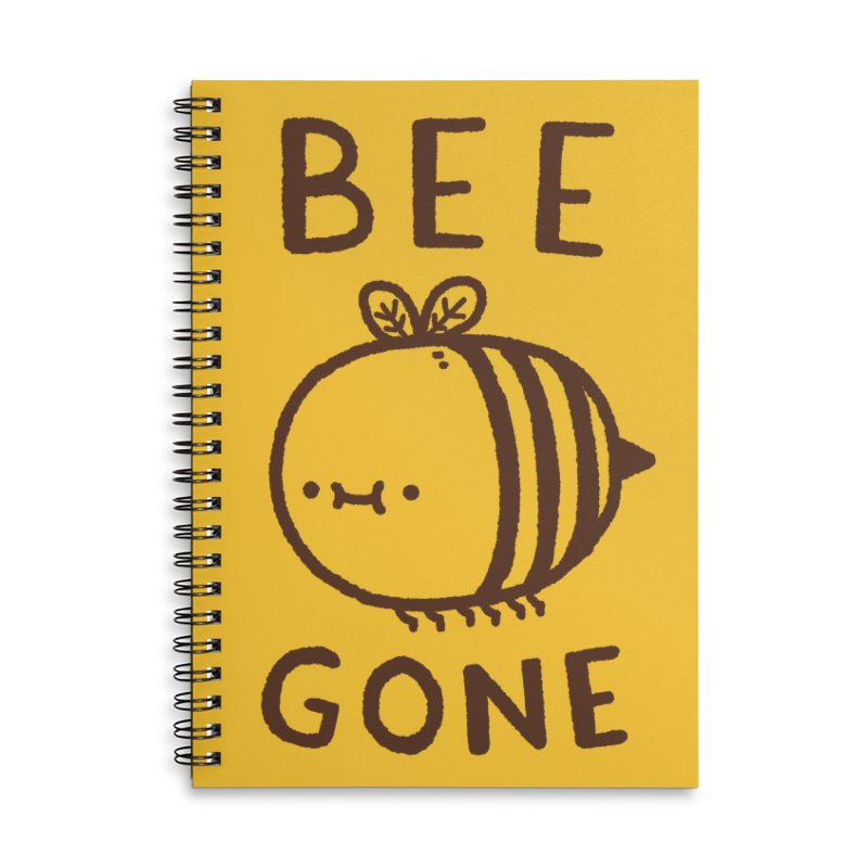 Bee Gone Accessories Lined Spiral Notebook by Luis Romero Shop