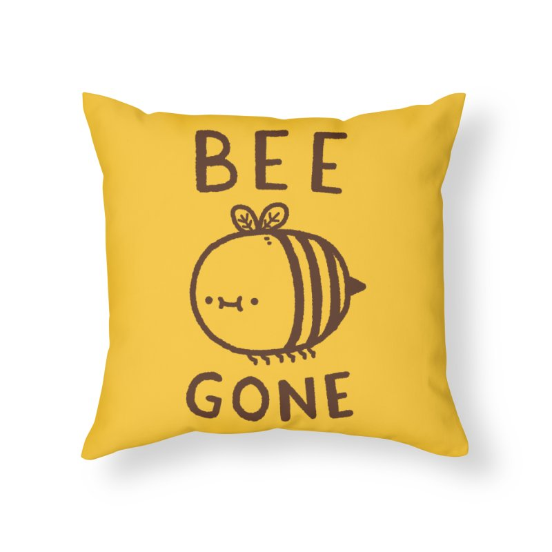 Bee Gone Home Throw Pillow by Luis Romero Shop