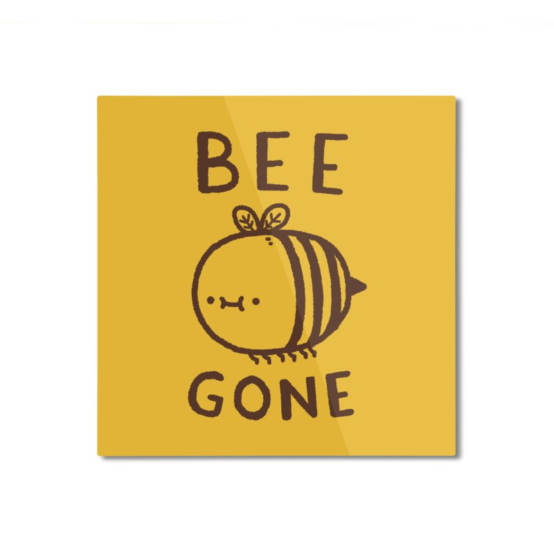 Bee Gone Home Mounted Aluminum Print by Luis Romero Shop