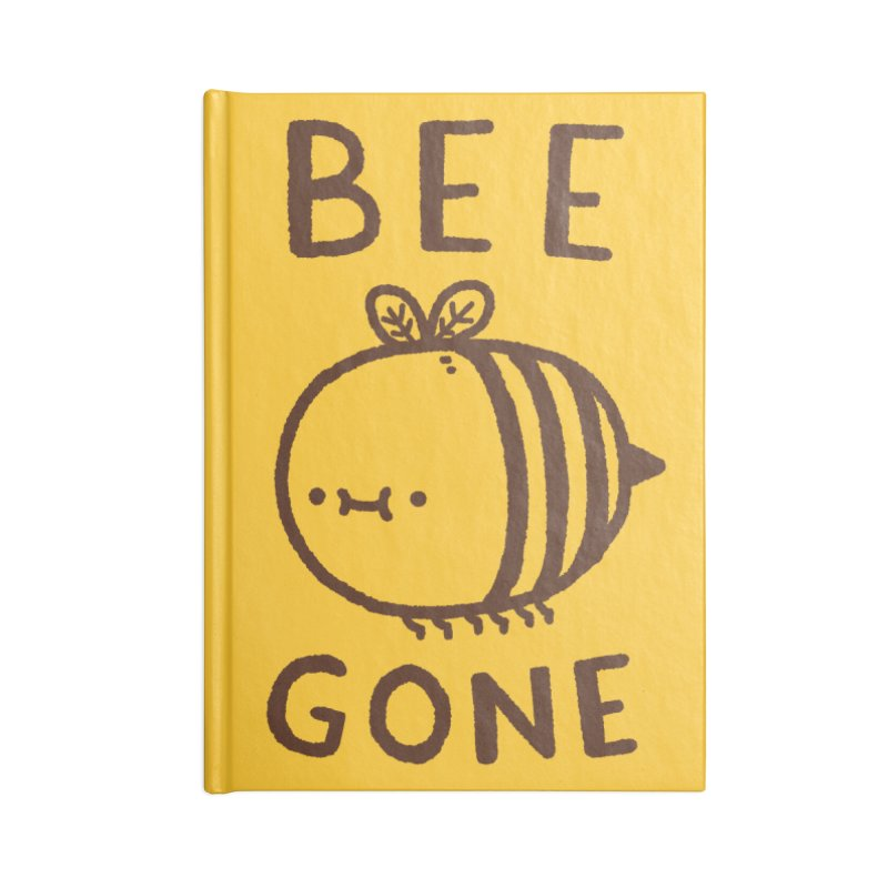 Bee Gone Accessories Lined Journal Notebook by Luis Romero Shop
