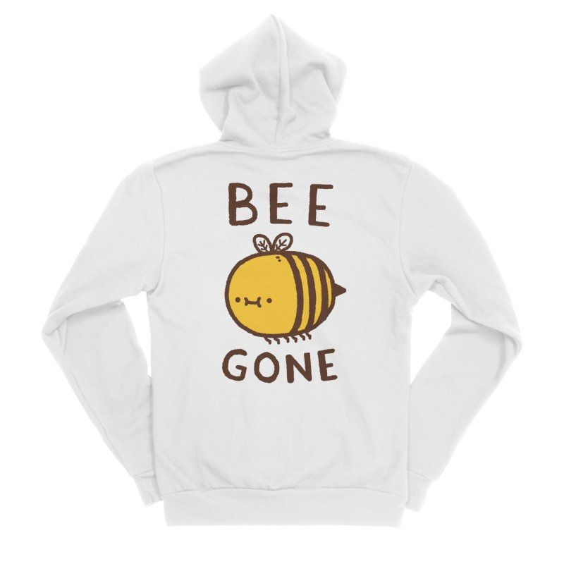 Bee Gone Men's Sponge Fleece Zip-Up Hoody by Luis Romero Shop