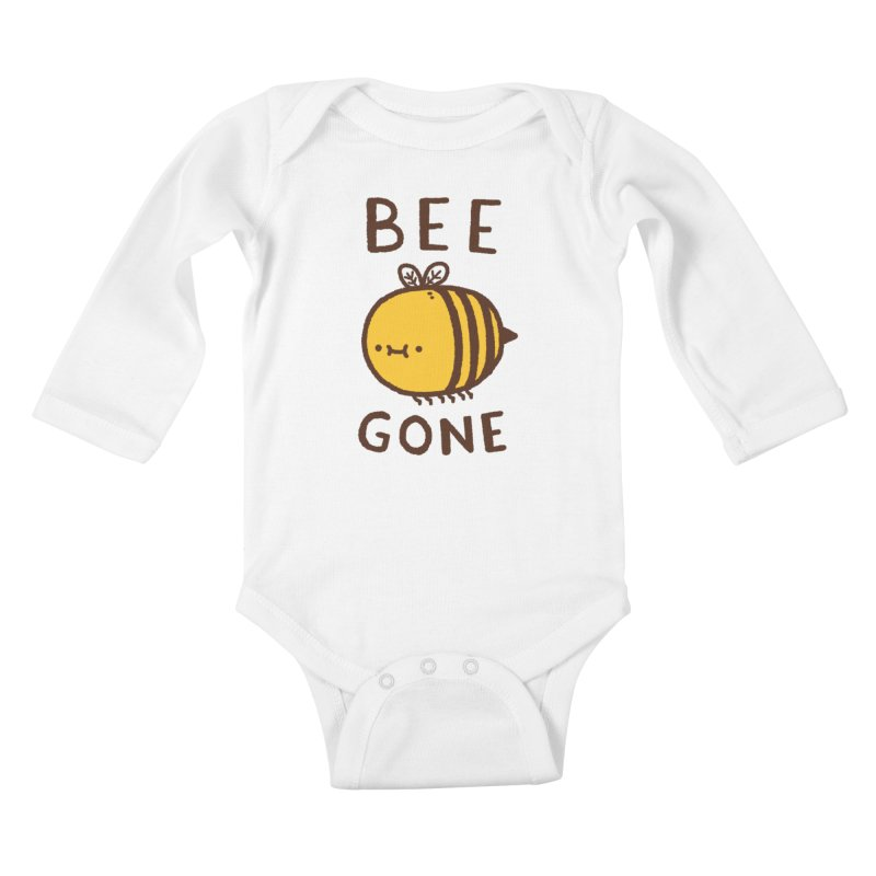 Bee Gone Kids Baby Longsleeve Bodysuit by Luis Romero Shop