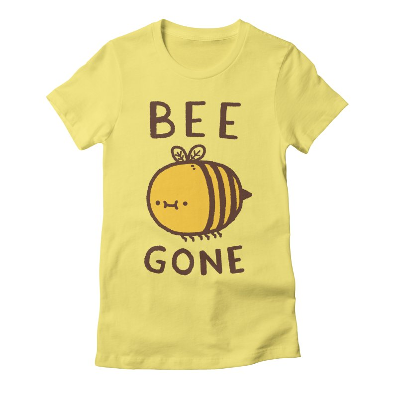 Bee Gone Women's Fitted T-Shirt by Luis Romero Shop