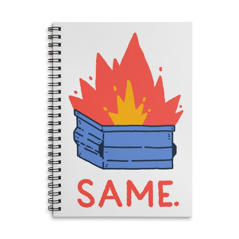Same. Accessories Lined Spiral Notebook by Luis Romero Shop