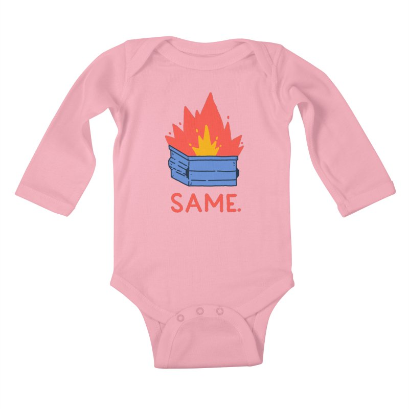 Same. Kids Baby Longsleeve Bodysuit by Luis Romero Shop