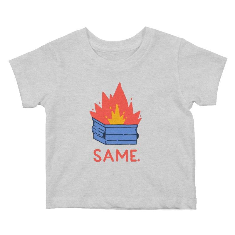 Same. Kids Baby T-Shirt by Luis Romero Shop