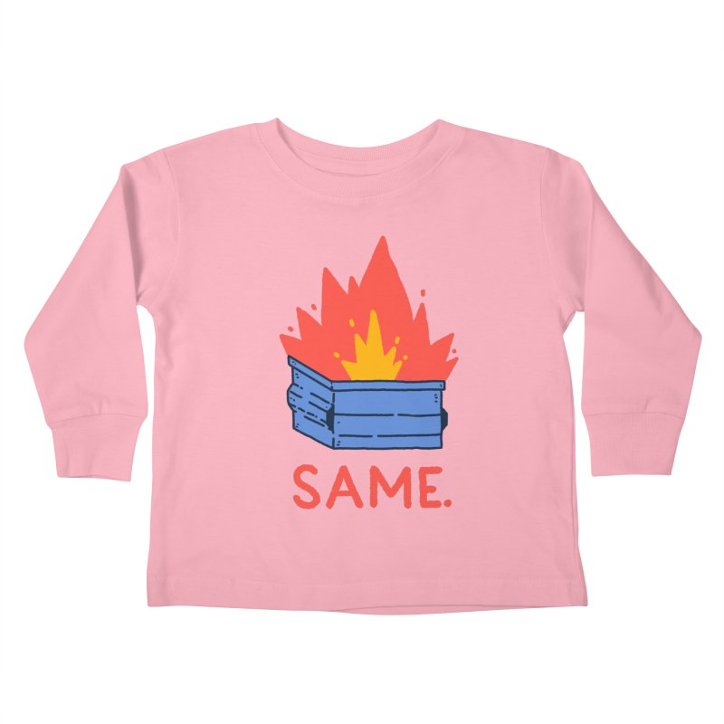 Same. Kids Toddler Longsleeve T-Shirt by Luis Romero