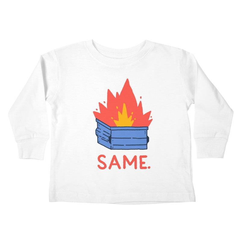 Same. Kids Toddler Longsleeve T-Shirt by Luis Romero Shop