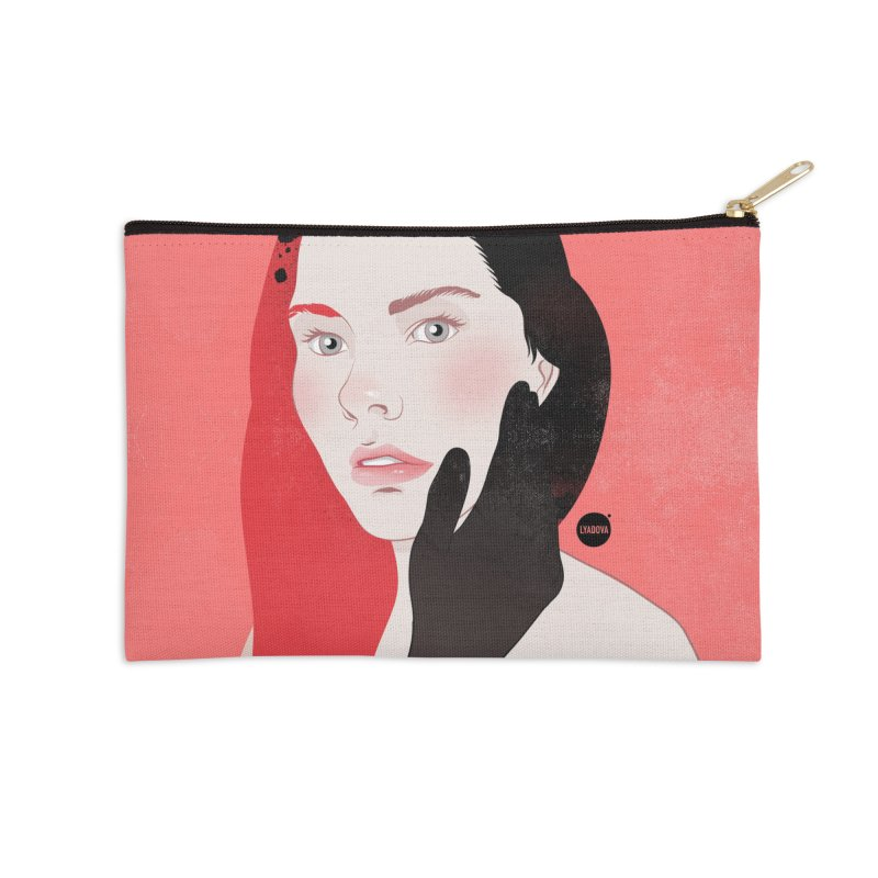 About a Girl Three Accessories Zip Pouch by Katerina Lyadova | Art
