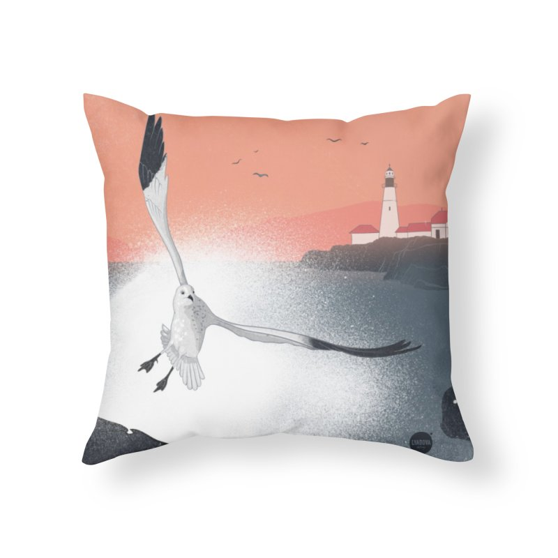 Seagull Home Throw Pillow by Katerina Lyadova | Art
