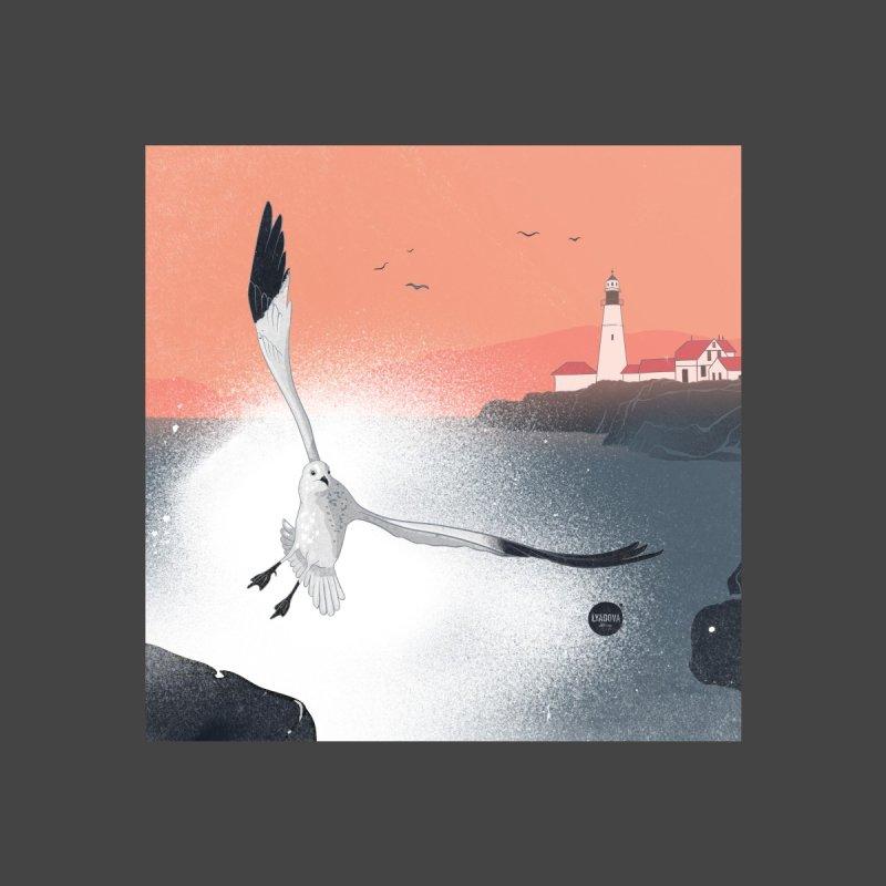 Seagull Logo Home Throw Pillow by Katerina Lyadova | Art
