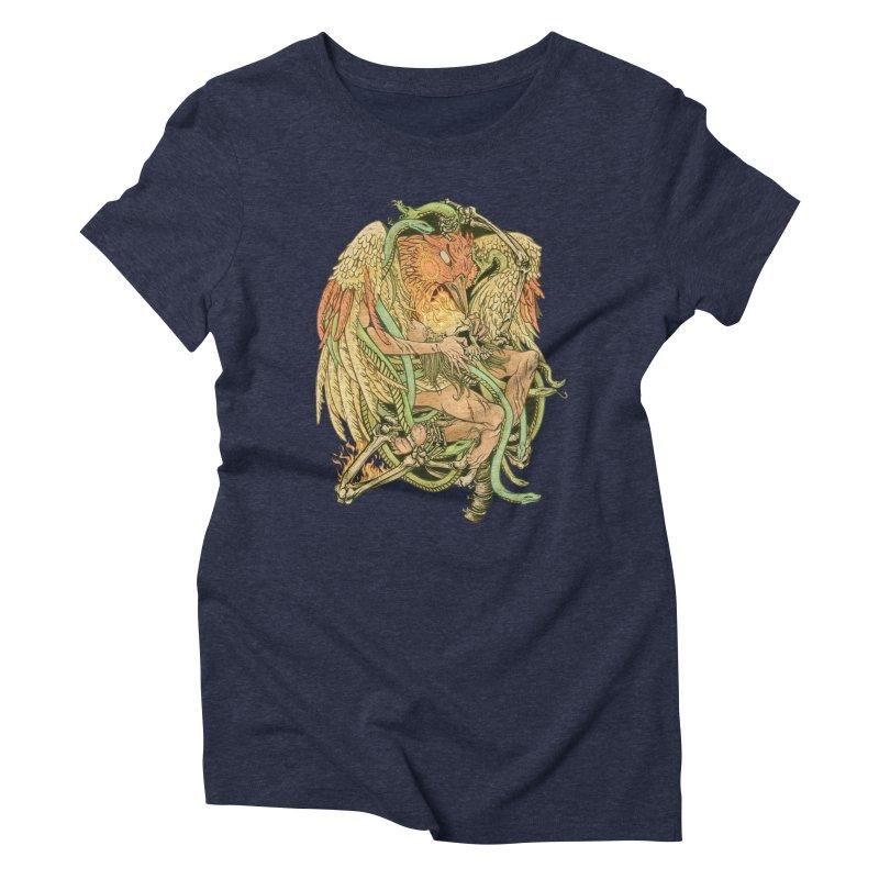 The Bird and Death Women's Triblend T-shirt by lydiabrim's Artist Shop