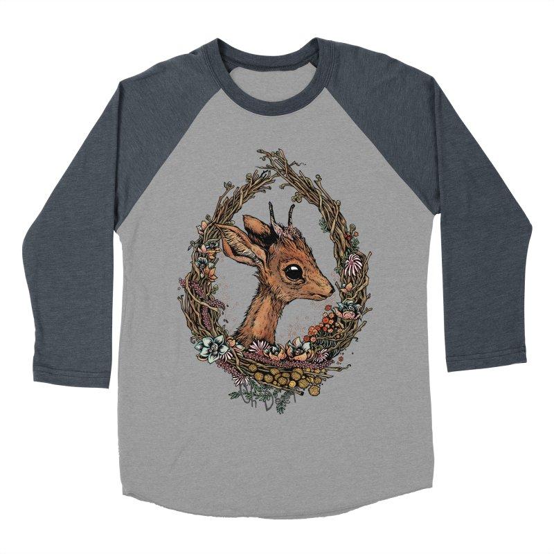 Oh Deer Women's Baseball Triblend T-Shirt by lydiabrim's Artist Shop