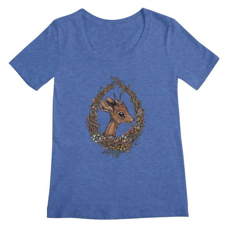 Oh Deer Women's Scoopneck by lydiabrim's Artist Shop
