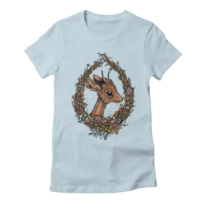 Oh Deer Women's Fitted T-Shirt by lydiabrim's Artist Shop
