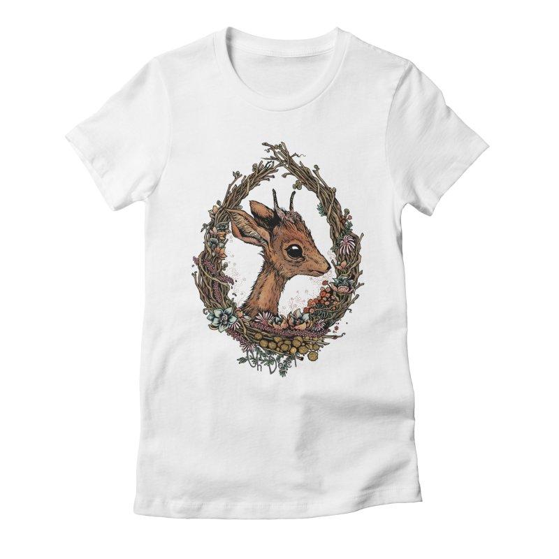 Oh Deer Women's Fitted T-Shirt by lydiabrim's Artist Shop