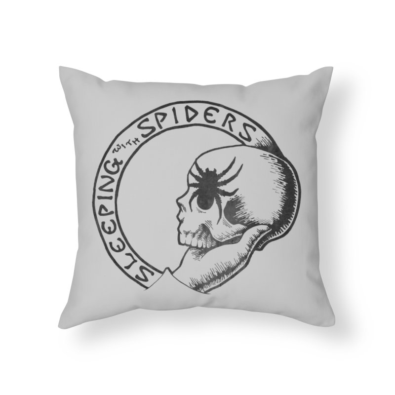Sleeping with Spiders - dark Home Throw Pillow by LydiaJae's Artist Shop