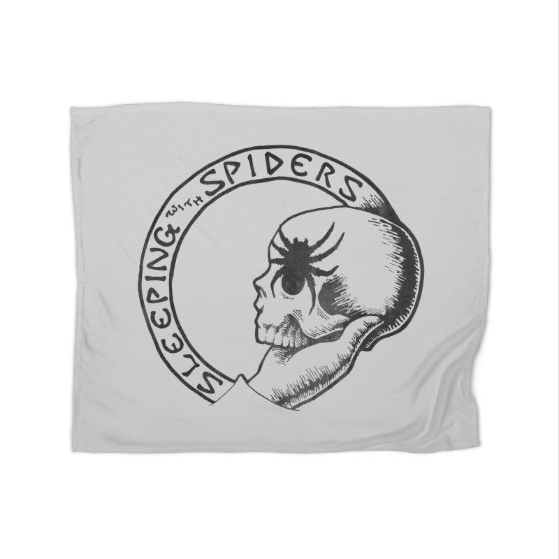 Sleeping with Spiders - dark Home Fleece Blanket Blanket by LydiaJae's Artist Shop