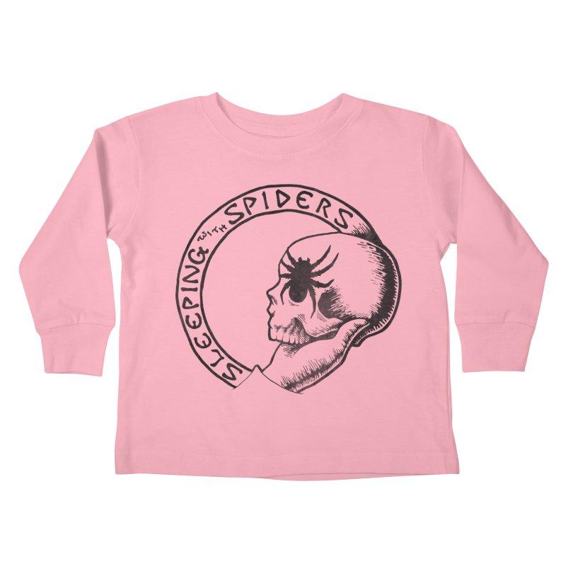 Sleeping with Spiders - dark Kids Toddler Longsleeve T-Shirt by LydiaJae's Artist Shop