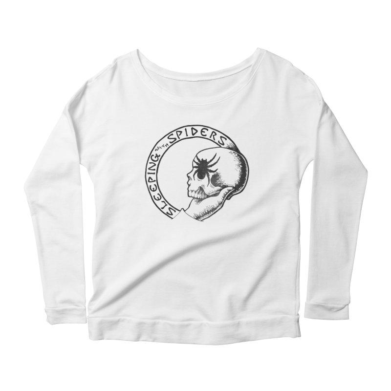 Sleeping with Spiders - dark Women's Scoop Neck Longsleeve T-Shirt by LydiaJae's Artist Shop