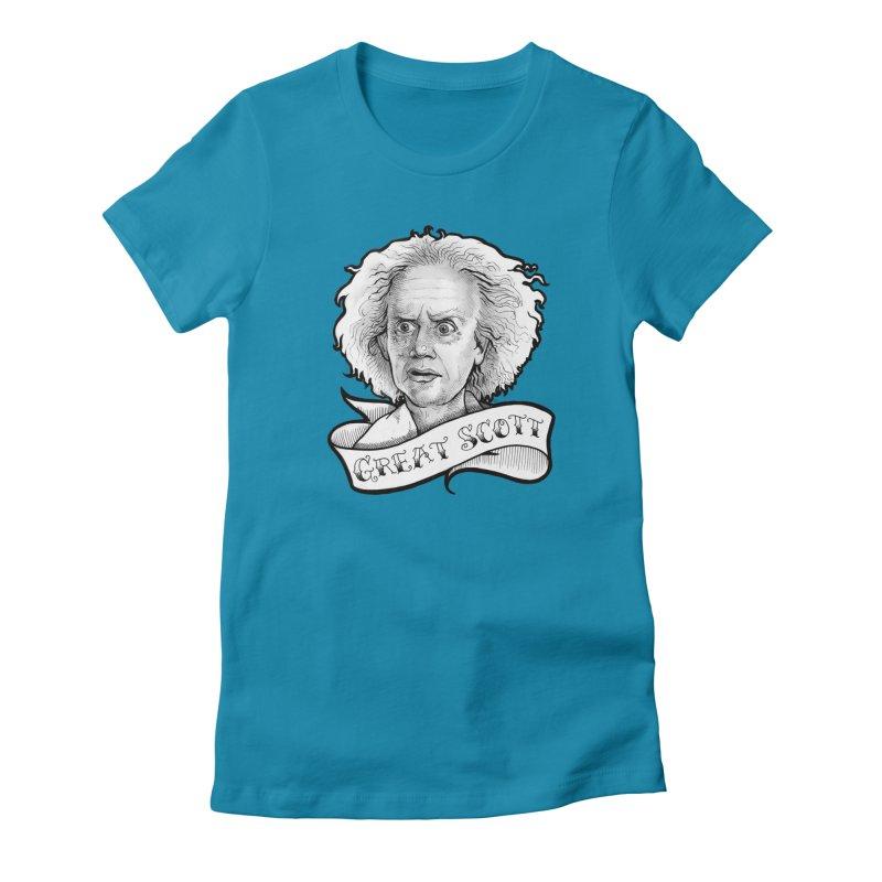 Great Scott! Women's Fitted T-Shirt by LydiaJae's Artist Shop