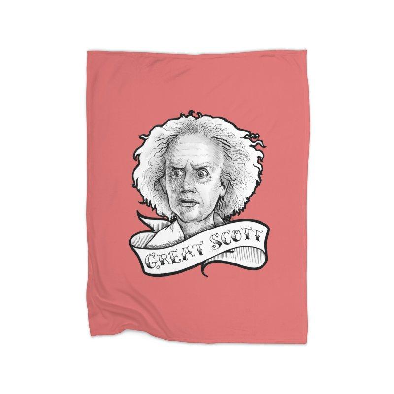 Great Scott! Home Fleece Blanket Blanket by LydiaJae's Artist Shop