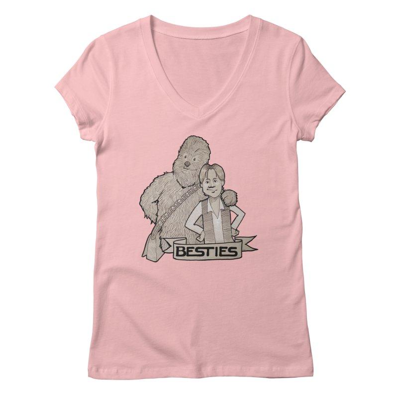 Besties Women's Regular V-Neck by LydiaJae's Artist Shop
