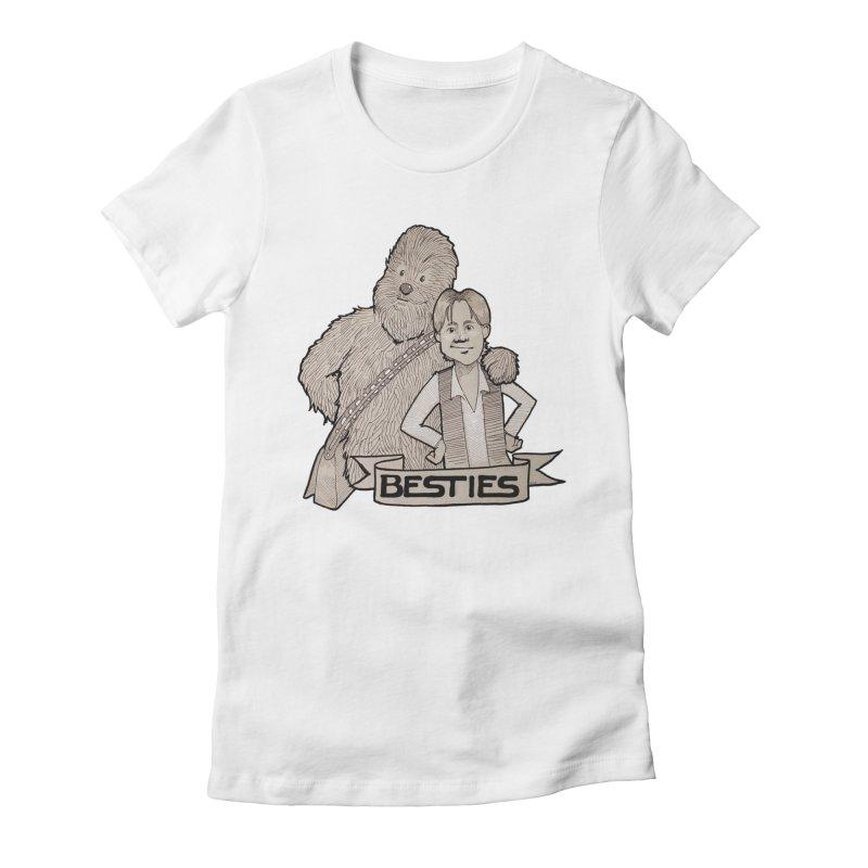 Besties Women's Fitted T-Shirt by LydiaJae's Artist Shop