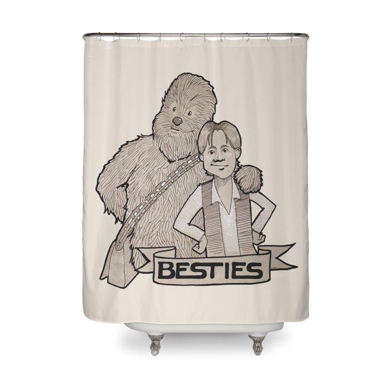 Besties Home Shower Curtain by LydiaJae's Artist Shop