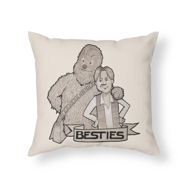 Besties Home Throw Pillow by LydiaJae's Artist Shop