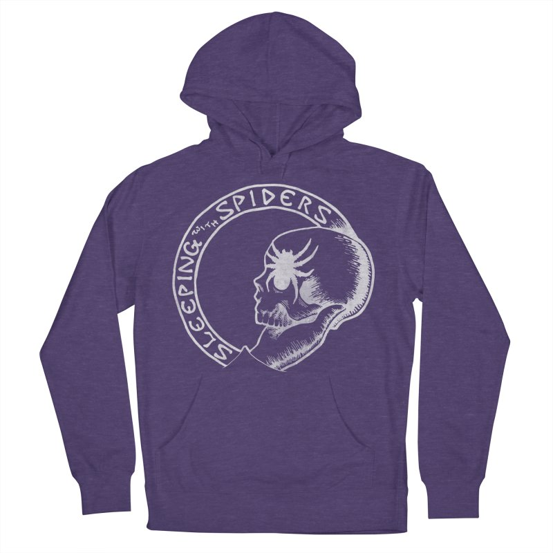 Sleeping with Spiders - white Men's French Terry Pullover Hoody by LydiaJae's Artist Shop