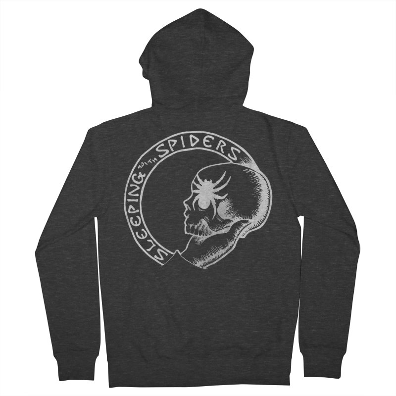 Sleeping with Spiders - white Women's French Terry Zip-Up Hoody by LydiaJae's Artist Shop