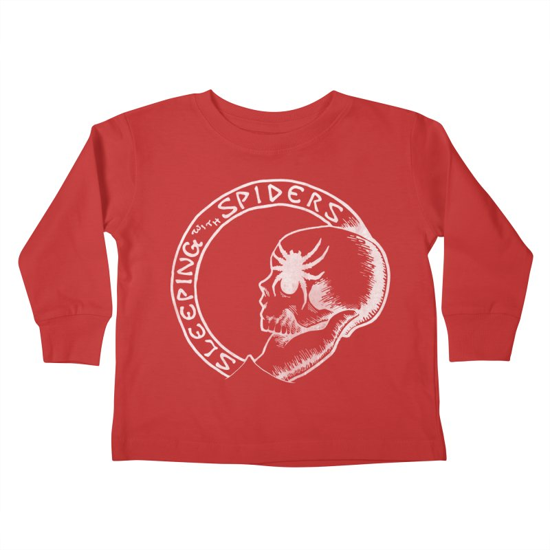 Sleeping with Spiders - white Kids Toddler Longsleeve T-Shirt by LydiaJae's Artist Shop