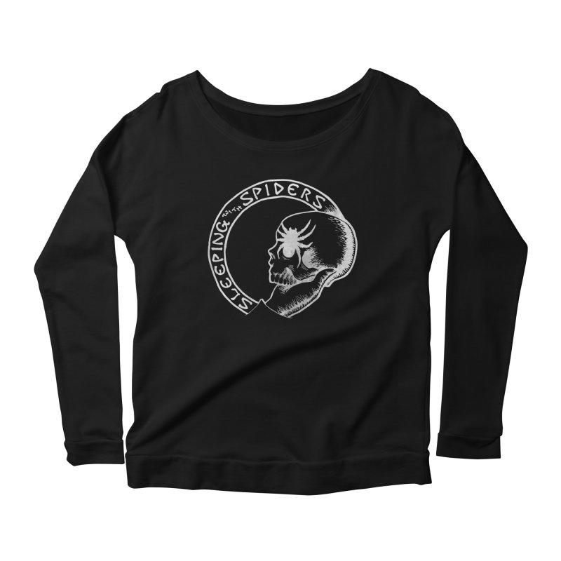 Sleeping with Spiders - white Women's Scoop Neck Longsleeve T-Shirt by LydiaJae's Artist Shop
