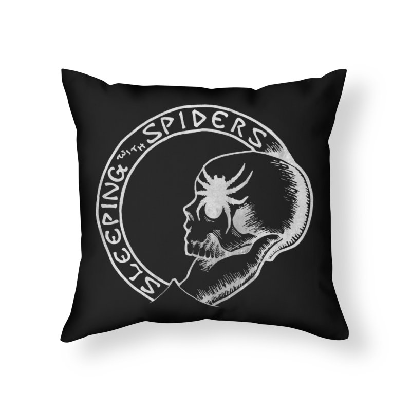 Sleeping with Spiders - white Home Throw Pillow by LydiaJae's Artist Shop