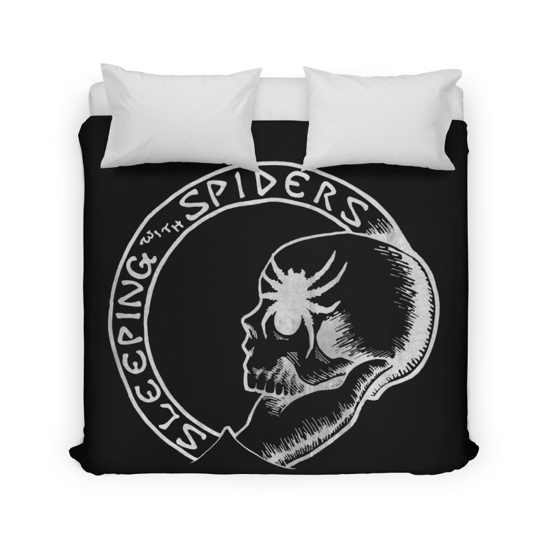 Sleeping with Spiders - white Home Duvet by LydiaJae's Artist Shop