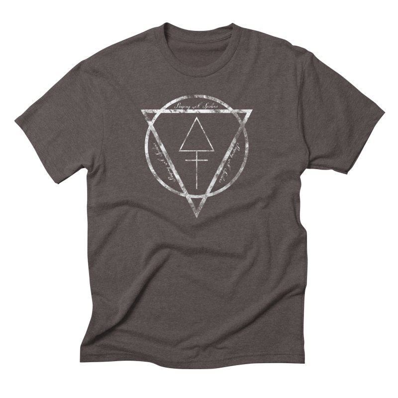 Sleeping with Spiders - Alchemy (white) Men's Triblend T-Shirt by LydiaJae's Artist Shop