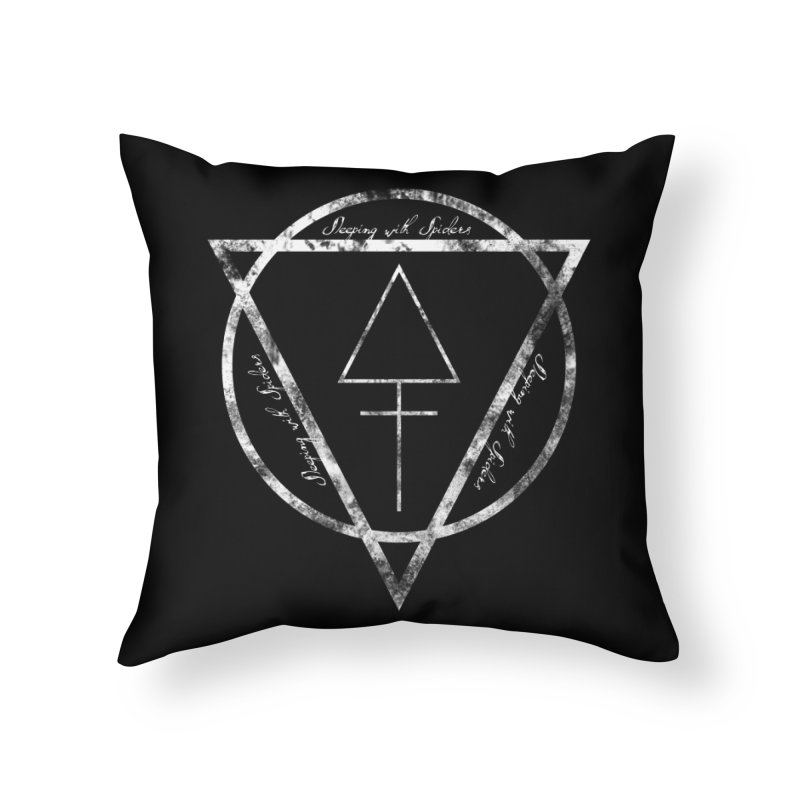Sleeping with Spiders - Alchemy (white) Home Throw Pillow by LydiaJae's Artist Shop