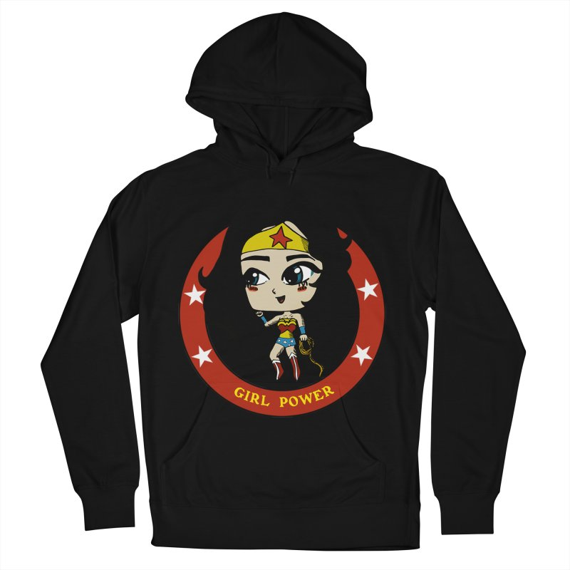 Girl Power! (Diana) Women's French Terry Pullover Hoody by LydiaJae's Artist Shop