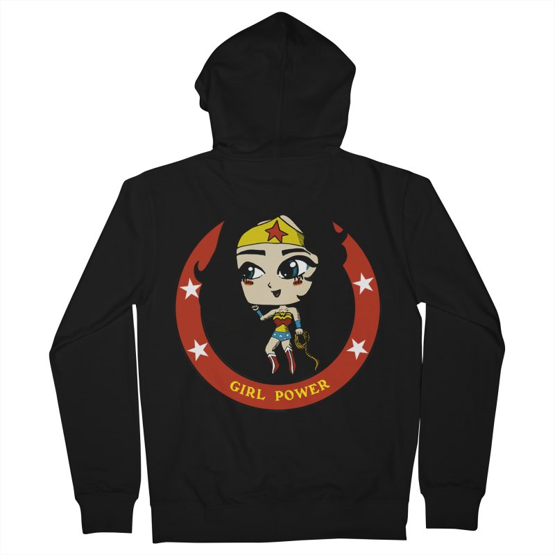 Girl Power! (Diana) Men's French Terry Zip-Up Hoody by LydiaJae's Artist Shop