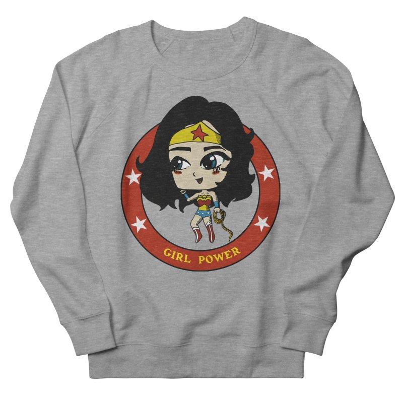 Girl Power! (Diana) Men's French Terry Sweatshirt by LydiaJae's Artist Shop