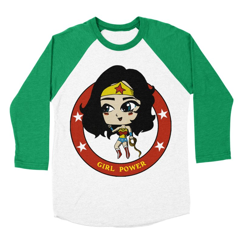 Girl Power! (Diana) Women's Baseball Triblend Longsleeve T-Shirt by LydiaJae's Artist Shop