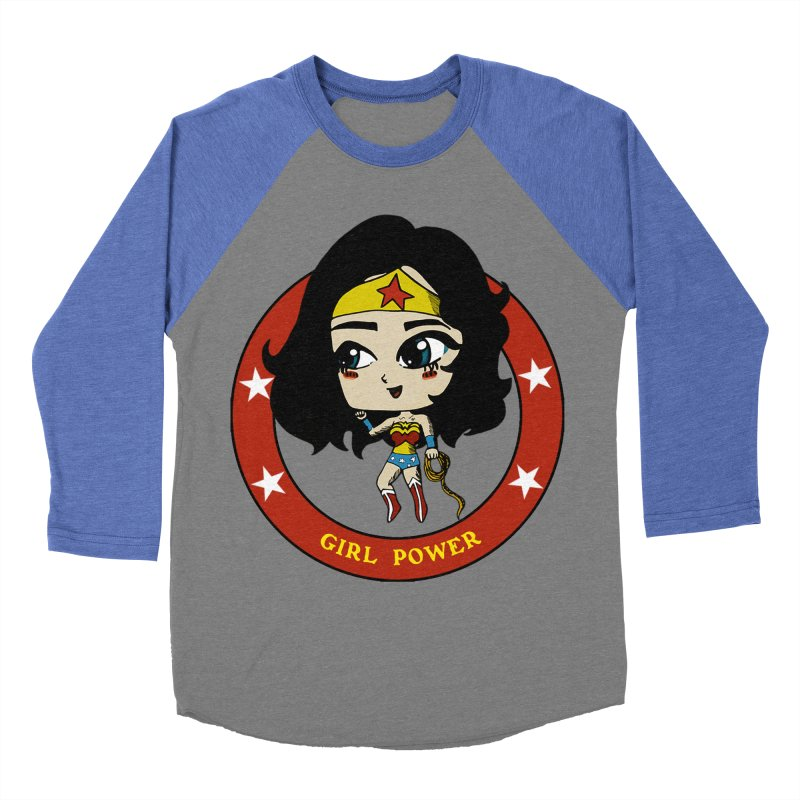Girl Power! (Diana) Women's Baseball Triblend Longsleeve T-Shirt by LydiaJae's Artist Shop