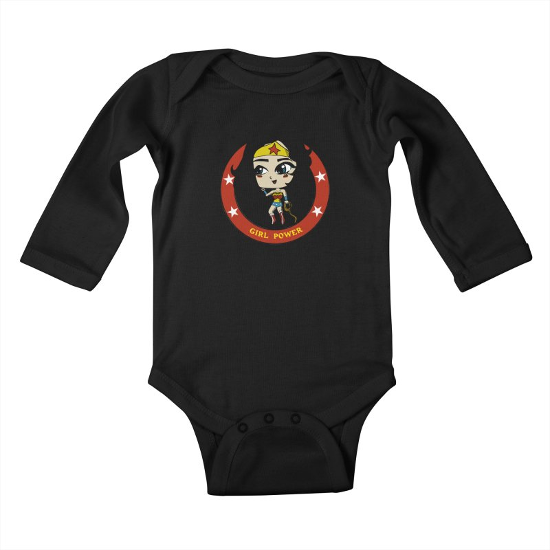 Girl Power! (Diana) Kids Baby Longsleeve Bodysuit by LydiaJae's Artist Shop
