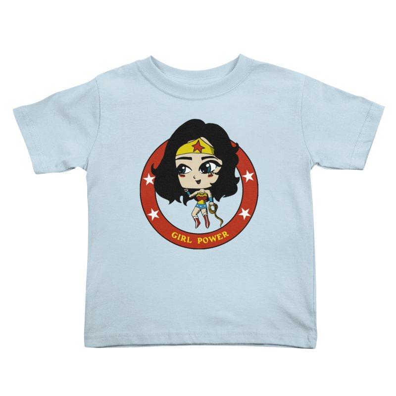 Girl Power! (Diana) Kids Toddler T-Shirt by LydiaJae's Artist Shop