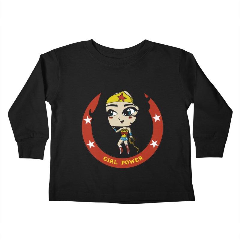Girl Power! (Diana) Kids Toddler Longsleeve T-Shirt by LydiaJae's Artist Shop