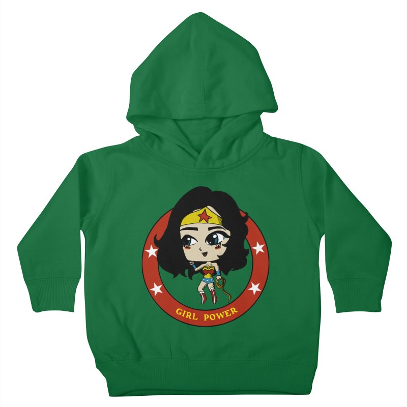 Girl Power! (Diana) Kids Toddler Pullover Hoody by LydiaJae's Artist Shop