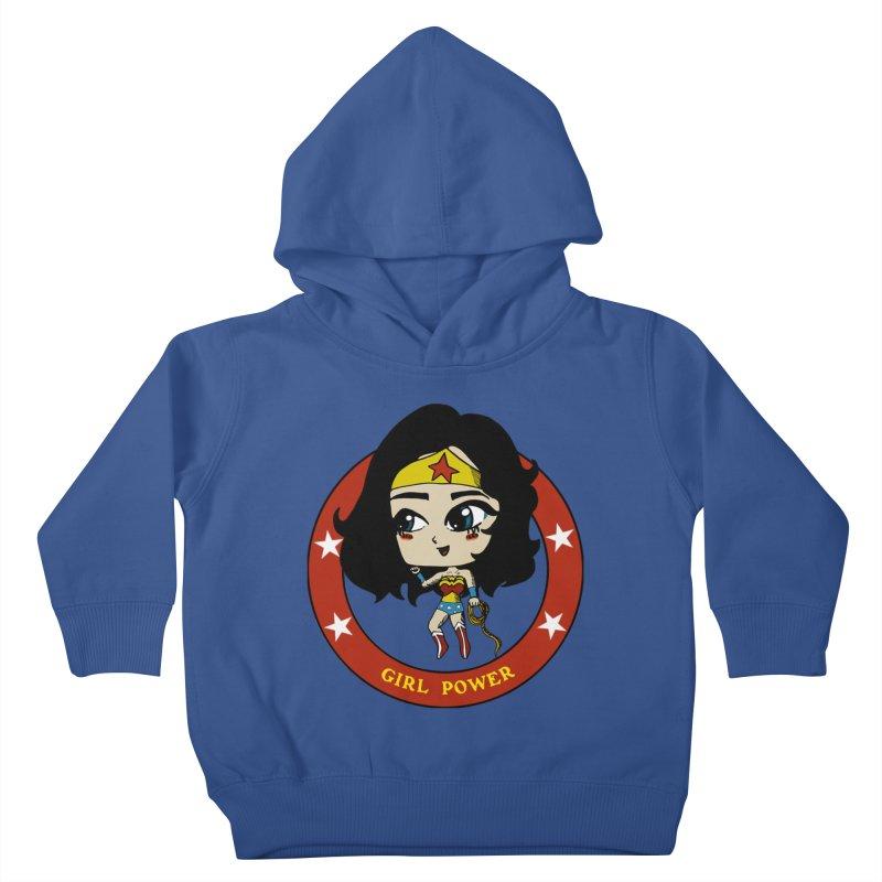 Girl Power! (Diana) Kids Toddler Pullover Hoody by LydiaJae's Artist Shop