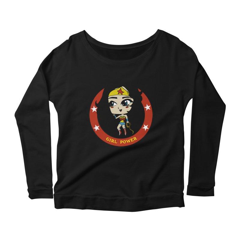Girl Power! (Diana) Women's Scoop Neck Longsleeve T-Shirt by LydiaJae's Artist Shop